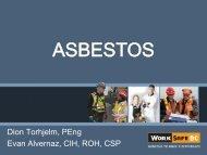 Asbestos - FPO Kelowna May 8, 2013