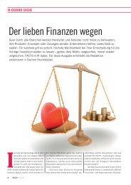 In eigener Sache: Der lieben Finanzen wegen - FACTS Verlag GmbH