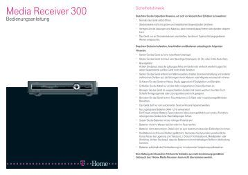 bedienungsanleitung media receiver 303 a telekom. Black Bedroom Furniture Sets. Home Design Ideas