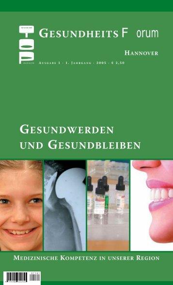 TOP Magazin Hannover Gesundheitsforum 01/2005