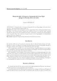 Harpacticoïdes (Crustacea, Copepoda) de la mer ... - Luciopesce.net