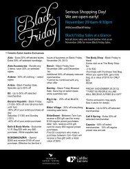 Black Friday Promotions (PDF) - Toronto Eaton Centre