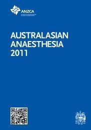 Australasian Anaesthesia 2011 PDF - Australian and New Zealand ...