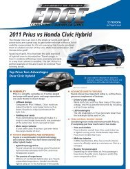 UoT Edge - 2011 Prius vs. 2011 Honda Civic Hybrid - SET University