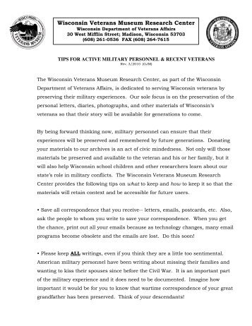 Wisconsin Veterans Museum Research Center