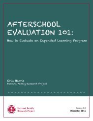 AFTERSCHOOL EVALUATION 101: - Statewide Afterschool Networks