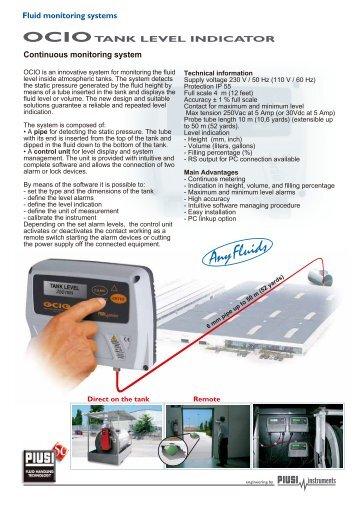 Continuous monitoring system OCIOTANK LEVEL INDICATOR