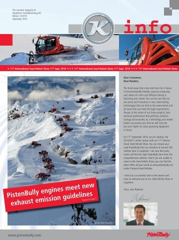 PistenBully engines meet new exhaust emission guidelines