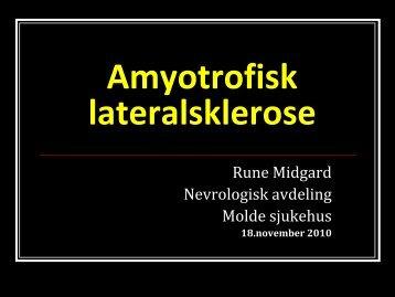 ALS-Kristiansund november 2010 - Og Bedre Skal Vi Bli