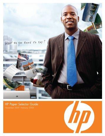 HP Paper Selector Guide
