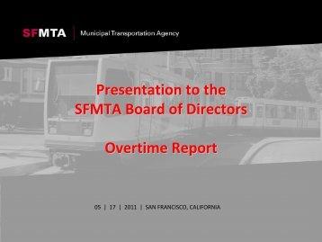 Overtime Report, PDF - SFMTA Archives
