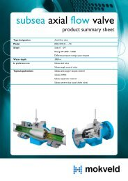 Subsea axial flow valve