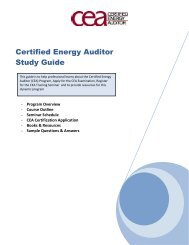 Certified Energy Auditor Study Guide - Association of Energy ...