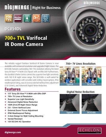 DCV54DL Spec Sheet - Digimerge