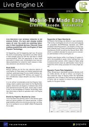 Live television over wireless networks is not science ... - Telestream