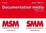 Documentation média - Schweizer MaschinenMarkt