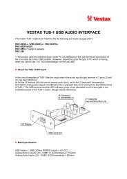 VESTAX TUB-1 USB AUDIO INTERFACE - AudioMaster