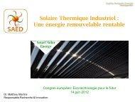 Amélioration du bilan énergétique global des procédés ... - Cd2e