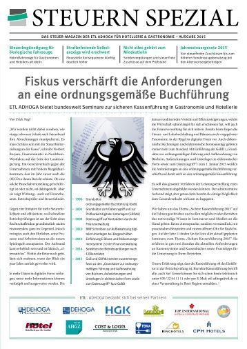 ETL ADHOGA Steuern Spezial - Ausgabe 2015