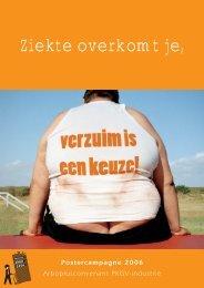 Postercampagne Ziekte overkomt je, verzuim is een keuze