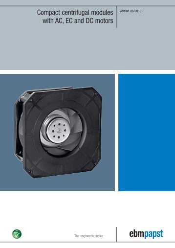 Compact centrifugal modules with AC, EC and DC motors - ebm-papst