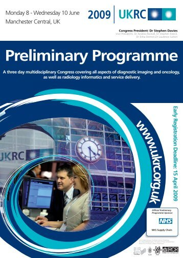 Preliminary programme (PDF) - ESR - Congress Calendar