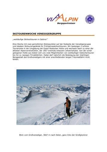 SKITOURENWOCHE VENEDIGERGRUPPE - Via-Alpin.de