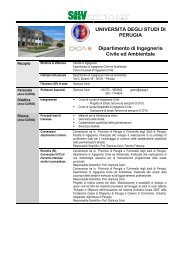 Dipartimento di Ingegneria Civile ed Ambientale - sito in costruzione