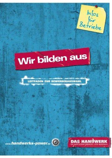 Leitfaden zur Bewerberauswahl - Handwerkskammer Konstanz