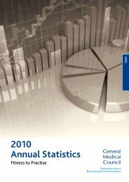 2010 Annual Statistics - General Medical Council