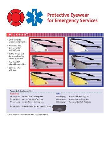MSA Aurora Protective Eyewear - 5 Alarm Fire and Safety Equipment