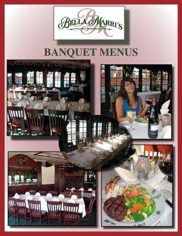 BANQUET MENUS - Your Restaurant Connection