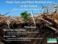 Food, Fuel, and Plant Nutrient Use in the Future - Council for ...
