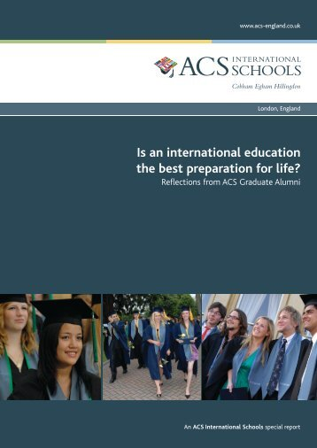 Is an international education the best preparation for life?