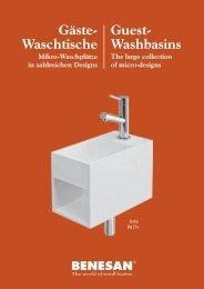 Waschtische Mikro-Waschplätze in zahlreichen Designs