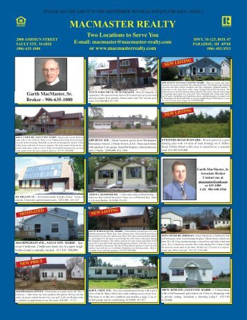 MACMASTER REALTY - Youngspublishing.com