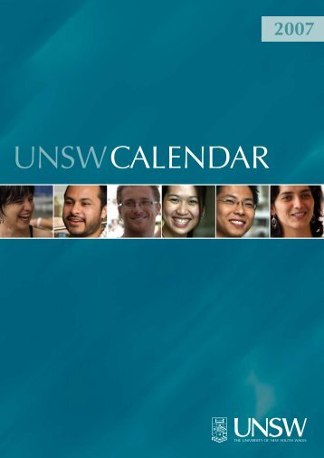 Calendar - UNSW Handbook - University of New South Wales