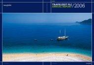 TravelzesT plc annual reporT/2006