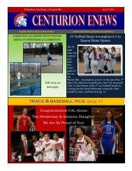 eNews 4/9/2013 - Christian Academy School System