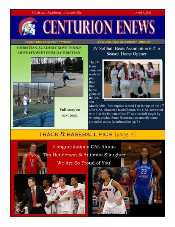 eNews 4/9/2013 - Christian Academy School System