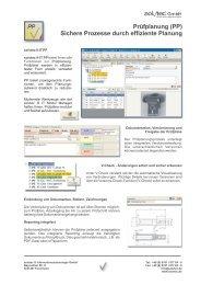 Prüfplanung (PP) Sichere Prozesse durch effiziente Planung