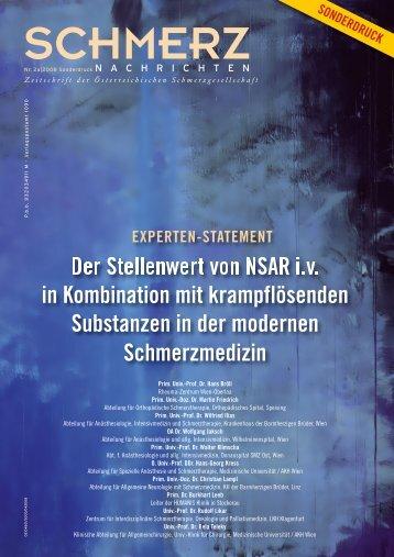 Der Stellenwert von NSAR i.v. in Kombination mit - Österreichische ...