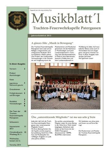 Musikblatt´l TK Patergassen 2013