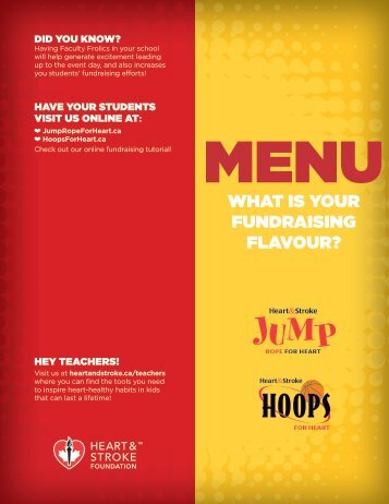 WHAT IS YOUR FUNDRAISING FLAVOUR? - Jump Rope For Heart