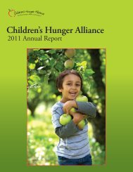 Annual Report 2011 - Children's Hunger Alliance