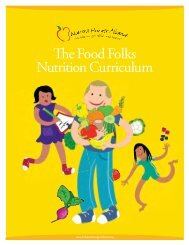 The Food Folks Nutrition Curriculum - Children's Hunger Alliance