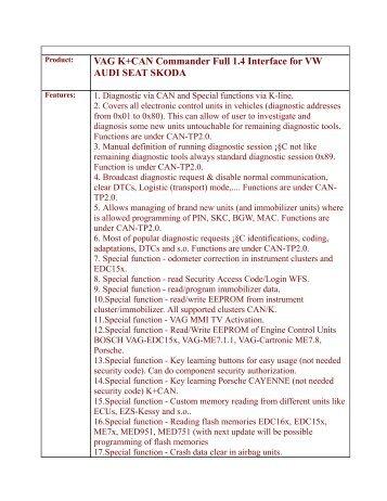 vag kcan commander 14 full china download