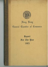 1903 - The Hong Kong General Chamber of Commerce