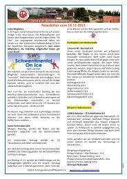 Newsletter vom 14.11.2011 - Tennis in Schwentinental