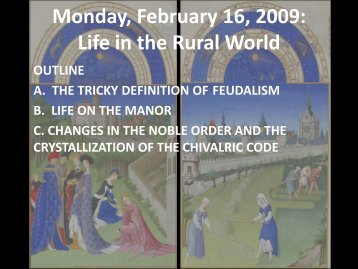 Monday, February 16, 2009: Life in the Rural World